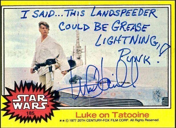 Luke Skywalker a beaucoup d'humour quand il signe un autographe