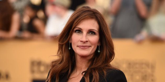 Julia Roberts arrives at the 21st annual Screen Actors Guild Awards at the Shrine Auditorium on Sunday,...