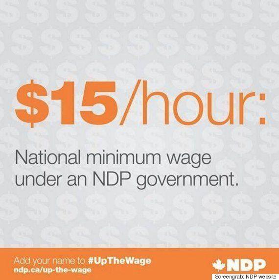Le NPD promet un salaire minimum à 15$: les partis dénoncent une publicité mensongère