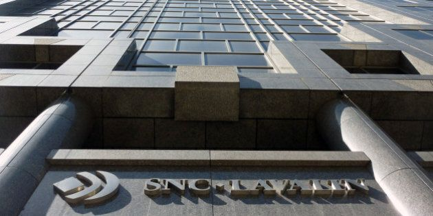A view is seen on April 13, 2012 of SNC-Lavalin's headquarters in Montreal, Quebec. Police on Friday...