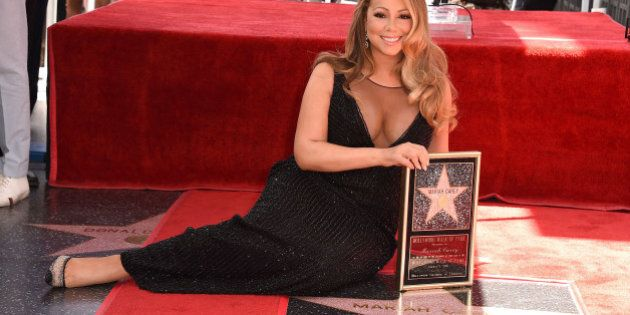 HOLLYWOOD, CA - AUGUST 05: Mariah Carey Honored With Star On The Hollywood Walk Of Fame on August 5,...