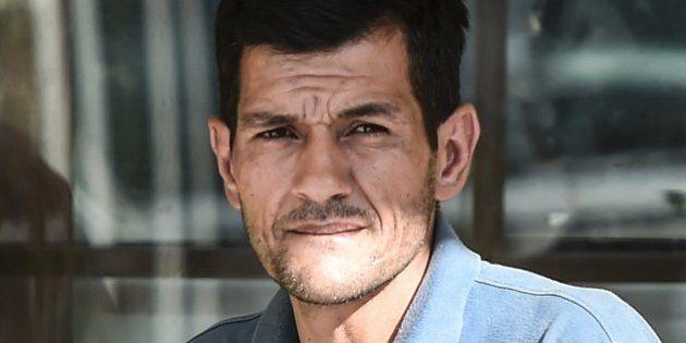 Abdullah Kurdi, father of three-year old Aylan Kurdi,waits at the morgue in Mugla, southern Turkey, on...