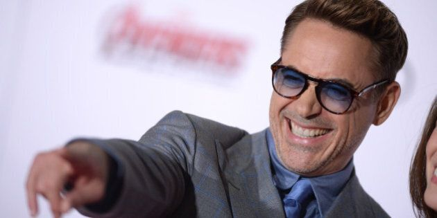 Robert Downey Jr. attends the premiere of Marvel's 'Avengers: Age Of Ultron' at Dolby Theatre on April...