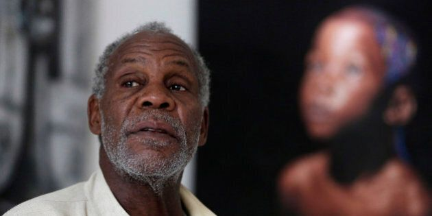 U.S actor Danny Glover speaks to The Associated Press during an interview in Lagos, Nigeria Thursday,...
