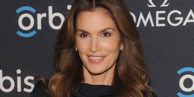 NEW YORK, NY - FEBRUARY 05:  Model, OMEGA Brand Ambassador Cindy Crawford attends the screening of 'The Hospital In The Sky' presented by OMEGA at New York Historical Society on February 5, 2015 in New York City.  (Photo by Craig Barritt/Getty Images for Omega)