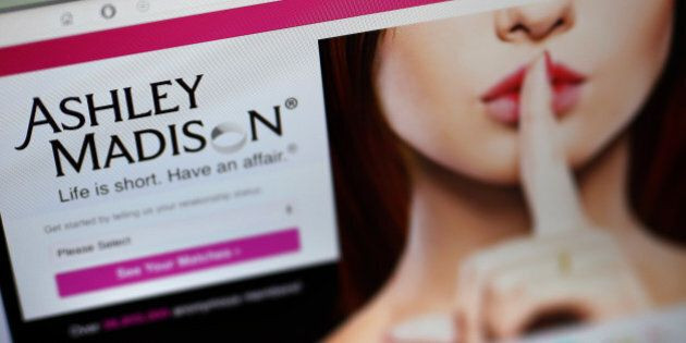LONDON, ENGLAND - AUGUST 19: A detail of the Ashley Madison website on August 19, 2015 in London, England....