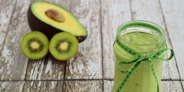 kiwi avocado yogurt