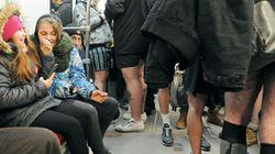 Journée sans pantalon dans le métro de Montréal