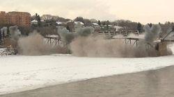 Un pont centenaire détruit à