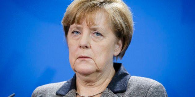 BERLIN, GERMANY - DECEMBER 02: German Chancellor Angela Merkel speaks to the media after her meeting...