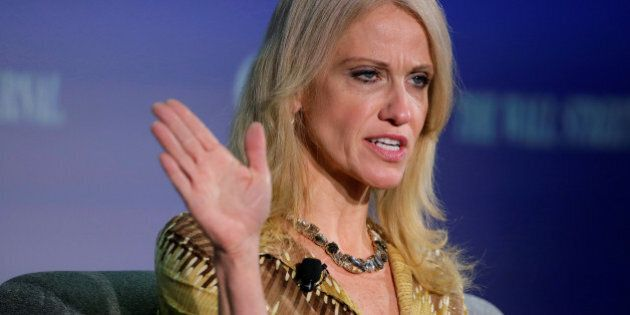 Kellyanne Conway, campaign manager and senior advisor to the Trump Presidential Transition Team, speaks at the Wall Street Journal CEO Council in Washington, U.S., November 14, 2016.REUTERS/Joshua Roberts