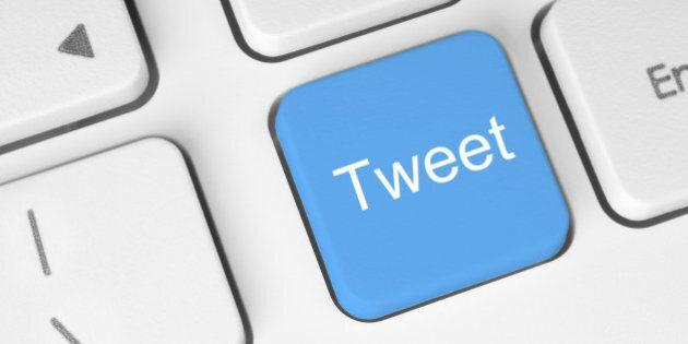 Social media concept on keyboard