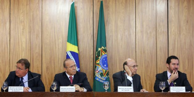 Brazil's Minister Chief of the Secretary Office of Government Geddel Vieira Lima, Chief of Staff Minister...