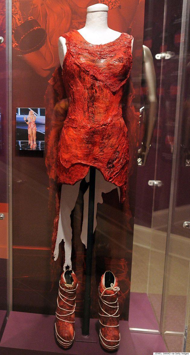 Voilà à quoi ressemble la robe en viande crue que portait Lady Gaga lors des MTV Video Music Awards