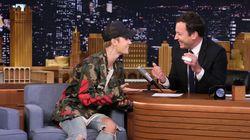 MTV MVA 2015: Justin Bieber explique à Jimmy Fallon pourquoi il a fondu en larmes