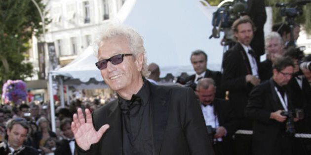 Cannes, FRANCE: Canadian composer Luc Plamondon poses 27 May 2007 upon arriving at the Festival Palace...