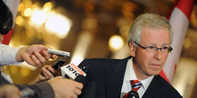 Aug 26, 2008 Stephane Dion at press conference in Fairmont Royal York Hotel. related to election speculation. Had the presser in the upper foyer of the hotel. Toronto Star/Michael Stuparyk (Photo by Michael Stuparyk/Toronto Star via Getty Images)
