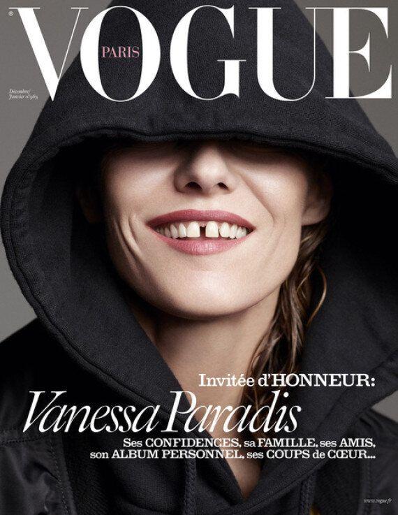 Vanessa Paradis très dénudée en couverture de Vogue