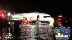 L'atterrissage de ce Boeing en Floride est tombé à l'eau