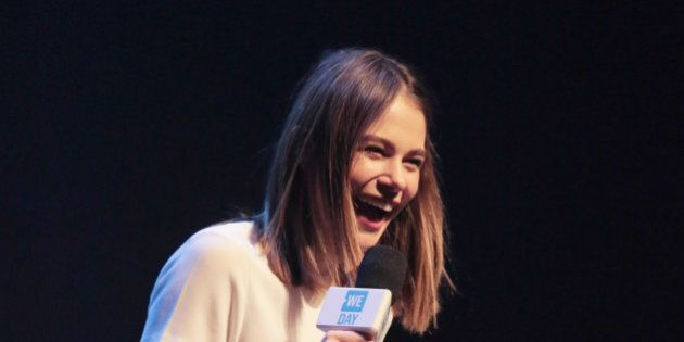 MONTREAL, QC - FEBRUARY 23:  Maripier Morin attends the WE Day Montreal at Theatre St-Denis on February 32, 2016 in Montreal, Canada. .  (Photo by Sophie Noël de Tilly/Getty Images)