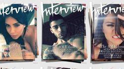 Des selfies de stars sur les Unes du magazine Interview