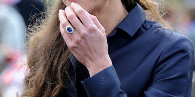 DARWEN, ENGLAND - APRIL 11: Kate Middleton visits Witton Country Park on April 11, 2011 in Darwen, England....