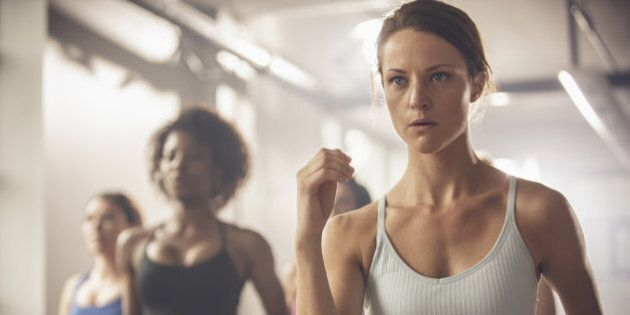 Women working out in exercise