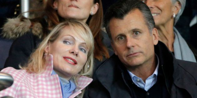 Owner of Olympique Marseille Margarita Louis Dreyfus, left, and Philipp Hildebrand, Vice Chairman of...