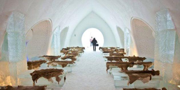 Malgré le temps doux, l'Hôtel de glace de Québec ouvrira lundi comme