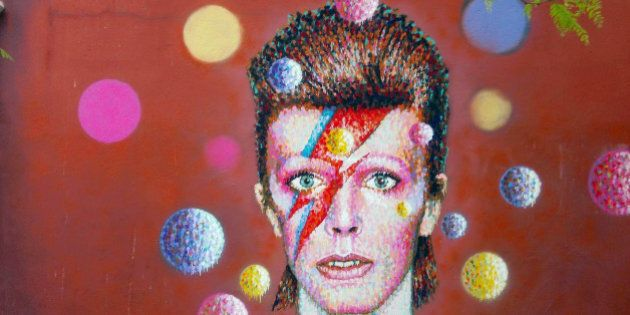 New mural painted by James Cochran aka Jimmy C showing the image of Bowie from the cover of his 1973...