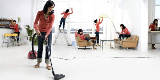 'Clone' of woman in home (digital