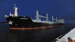 Le premier navire de l'année atteint le Port de