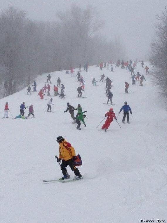 La tempête de mardi a lancé le ski nordique dans le
