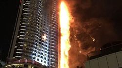 Les incroyables images du gigantesque incendie à Dubaï