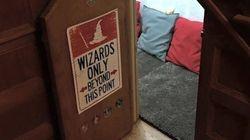 Une moldue recrée le «placard sous l'escalier» d'Harry Potter