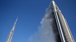 Dubaï enquête sur le spectaculaire incendie d'un hôtel de luxe