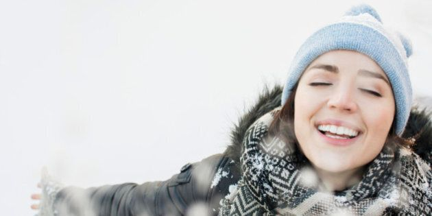 Portrait of smiling woman in