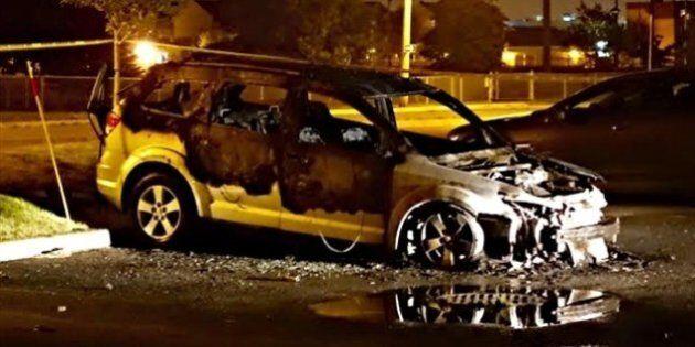 Montérégie: véhicules incendiés lundi soir à Sainte-Catherine; aucun
