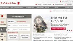 Air Canada fait une grosse gaffe sur son site