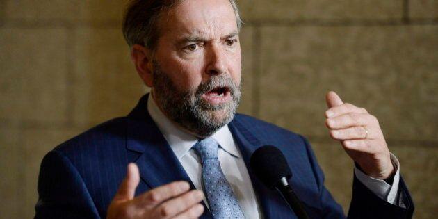 Mulcair: un gouvernement néo-démocrate ne financerait pas le retour des