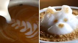 Des oeuvres d'art sur café