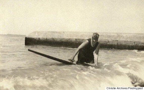 Agatha Christie était l'une des pionières du surf, des gamelles et des accidents de