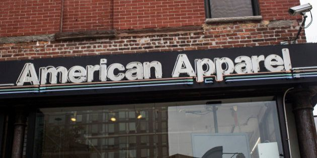 NEW YORK, NY - JUNE 19: An American Apparel store is seen on June 19, 2014 in New York City. American...