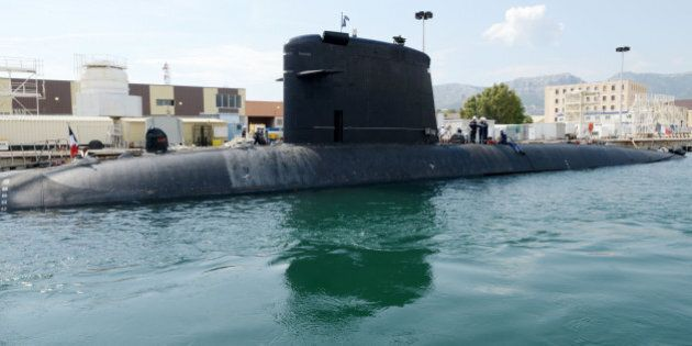 Nuclear attack submarine in the naval