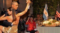 Barack et Michelle Obama dansent le tango en