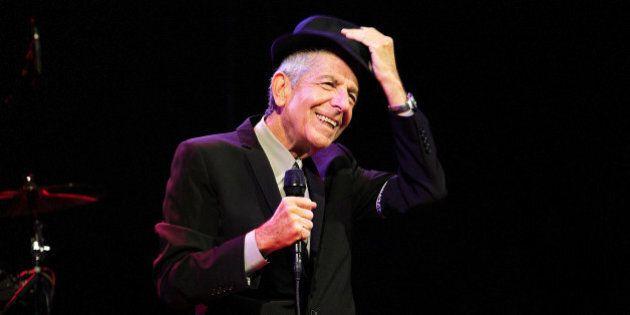 INDIO, CA - APRIL 17: Leonard Cohen performs on stage at Coachella Festival 2009 at Empire Polo Field...
