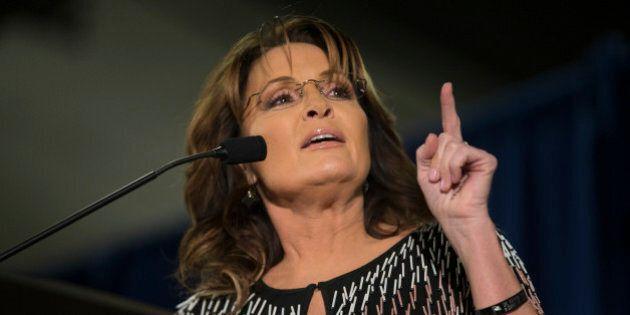 AMES, IA - JANUARY 19: Former Alaska Gov. Sarah Palin speaks at Hansen Agriculture Student Learning Center...