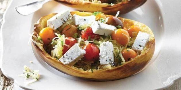 Duo Gourmand: recette de courge spaghetti, tomates et fromage frais et le vin qui va