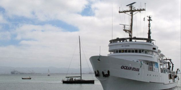 The Ocean Starr, used for research of plastic in the world's oceans, returns to San Francisco on Sunday,...