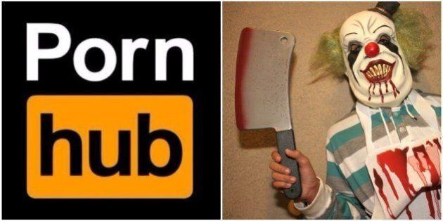 Pornhub profite du phénomène des clowns